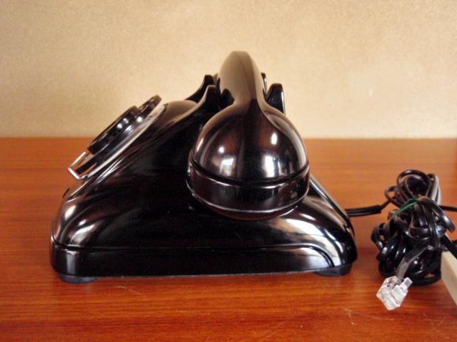 ◆昭和の4号黒電話◆整備済み 光回線可/モジュラーケーブル延長仕様 骨董_画像8