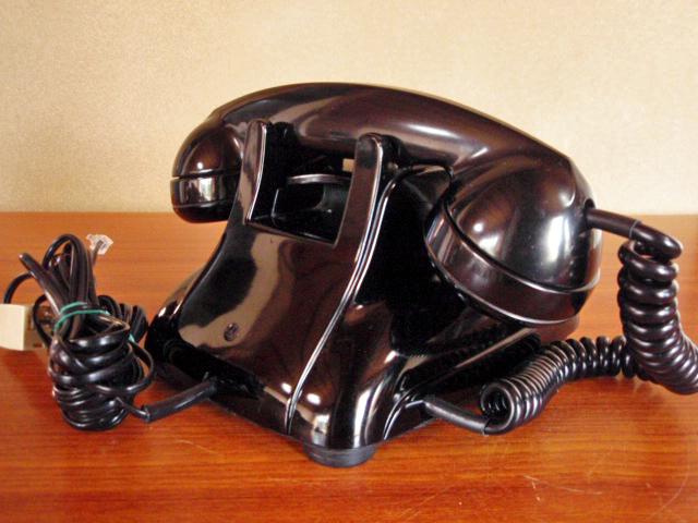 ◆昭和の4号黒電話◆整備済み 光回線可/モジュラーケーブル延長仕様 骨董_画像6