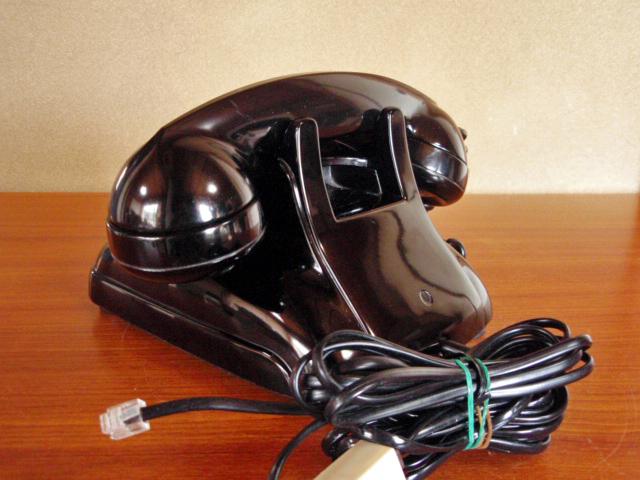 ◆昭和の4号黒電話◆整備済み 光回線可/モジュラーケーブル延長仕様 骨董_画像9