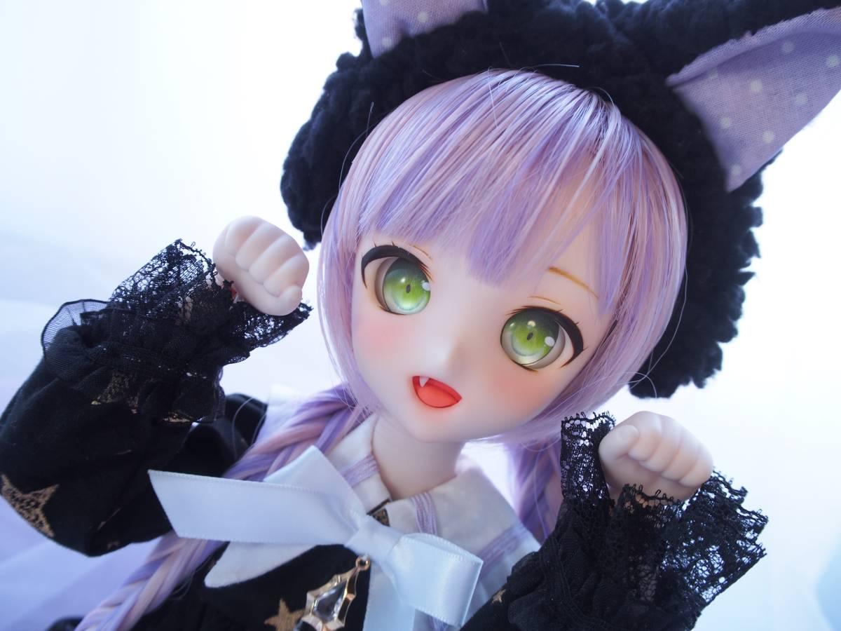 【Miel☆Magical】DDH-10 セミホワイト肌 カスタムヘッド+アイ2点+お洋服Set_画像4