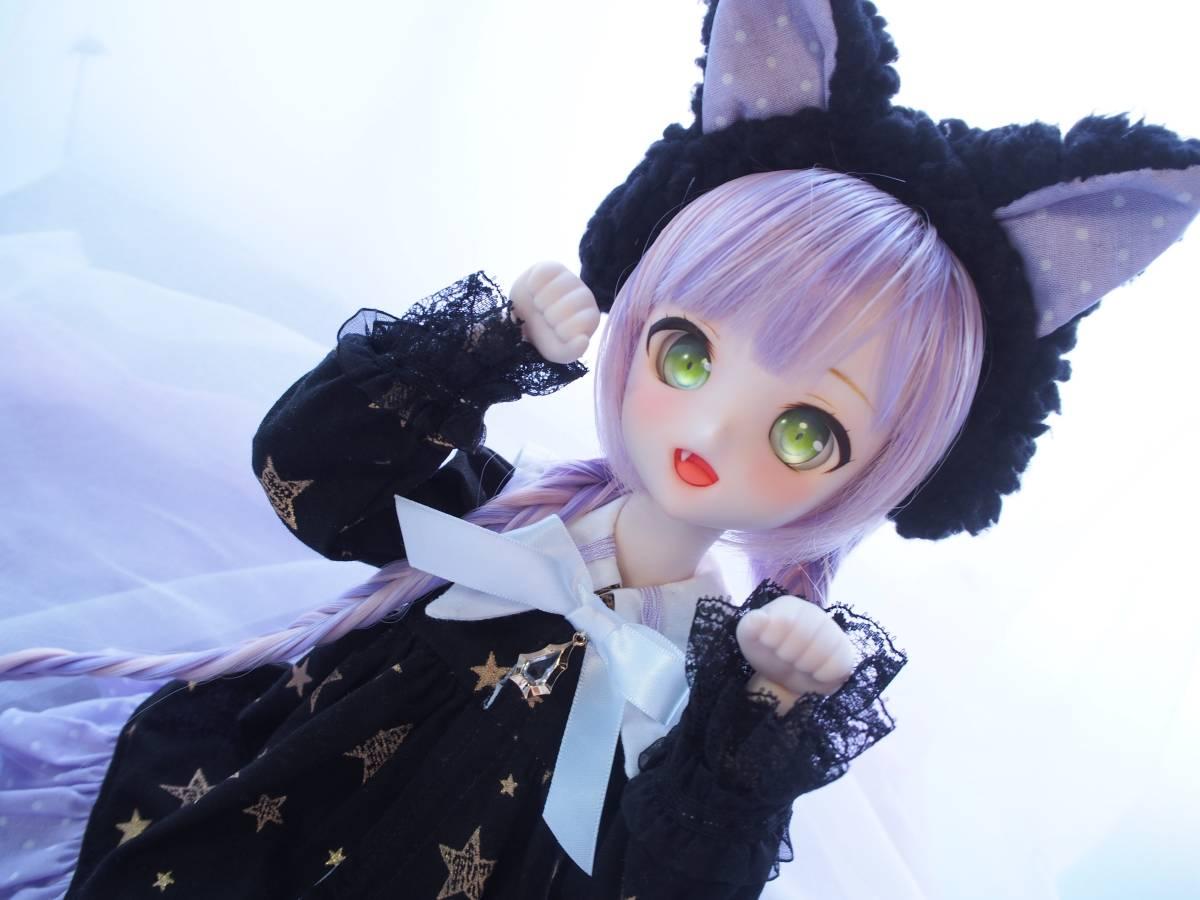 【Miel☆Magical】DDH-10 セミホワイト肌 カスタムヘッド+アイ2点+お洋服Set_画像6