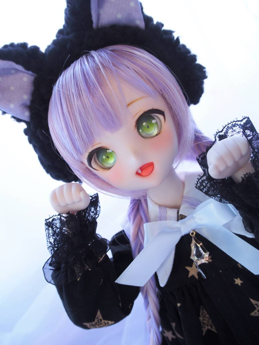 【Miel☆Magical】DDH-10 セミホワイト肌 カスタムヘッド+アイ2点+お洋服Set_画像2