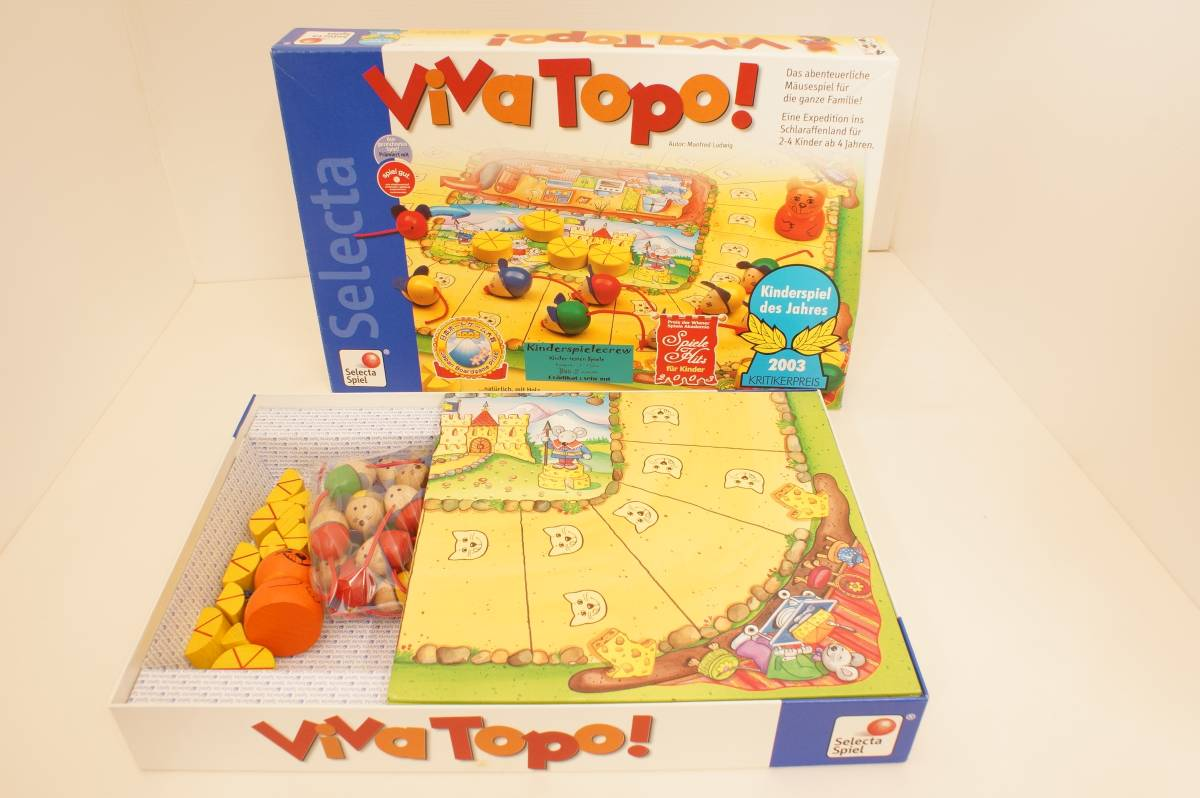 out of print *ViVa Topo board game     mouse   large race