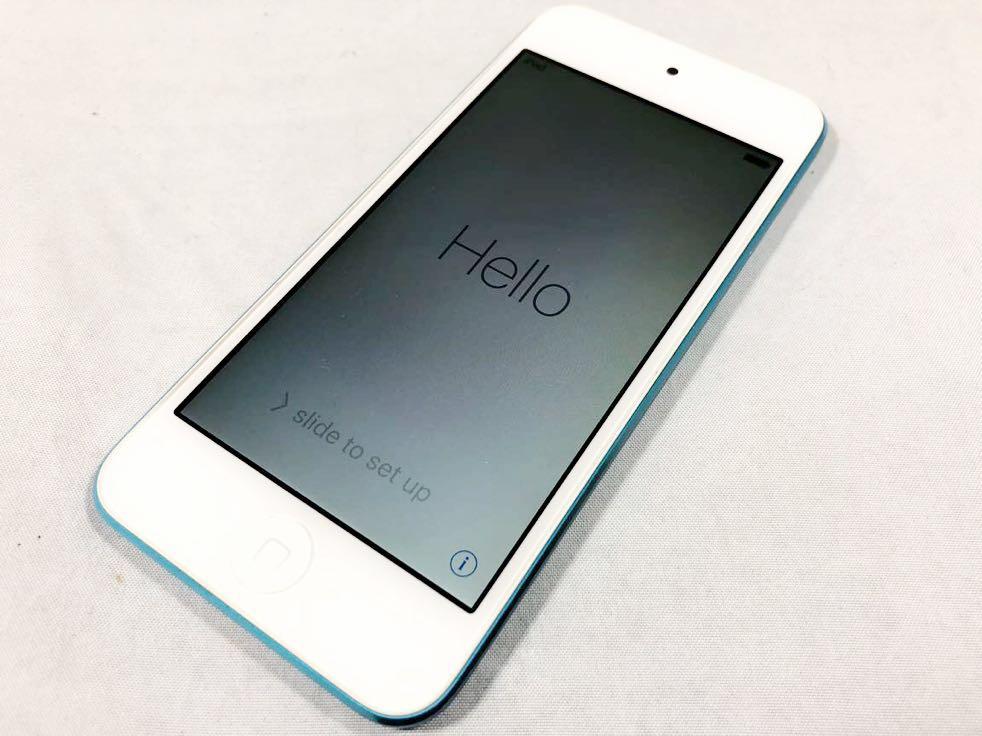 1円 美品 iPad touch アップル 第5世代 A1421 ブルー 動作品 初期化済み 売り切り