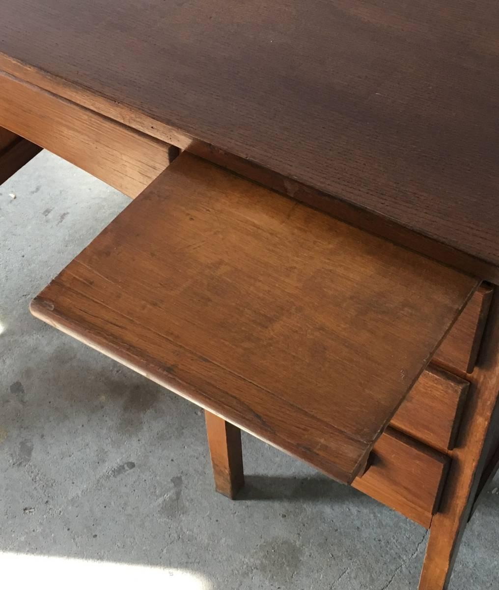 イギリス アンティーク 1940s MID CENTURY DESK オーク デスク 机 テーブル イス ビンテージ_画像7