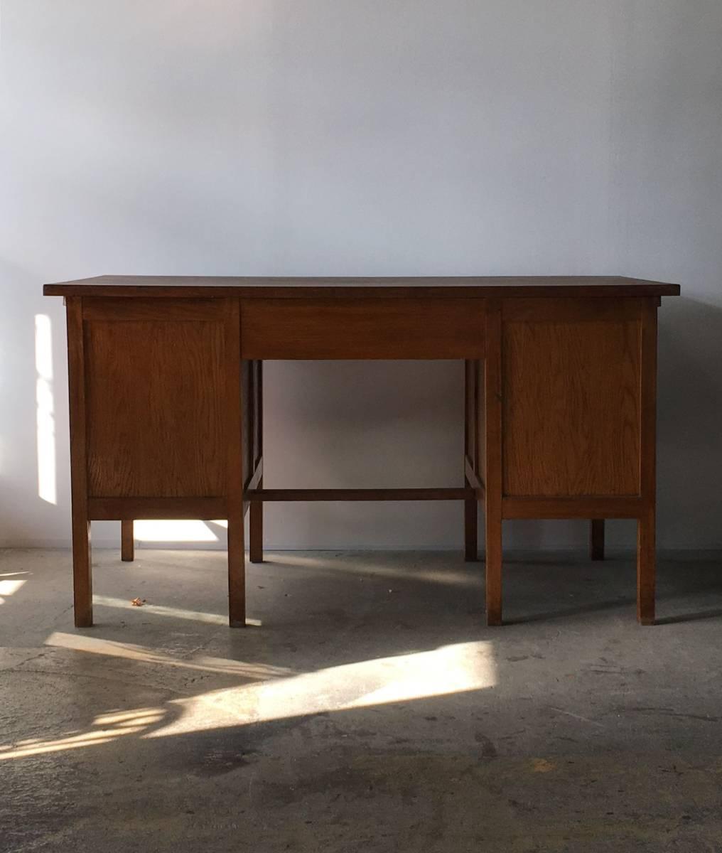 イギリス アンティーク 1940s MID CENTURY DESK オーク デスク 机 テーブル イス ビンテージ_画像8