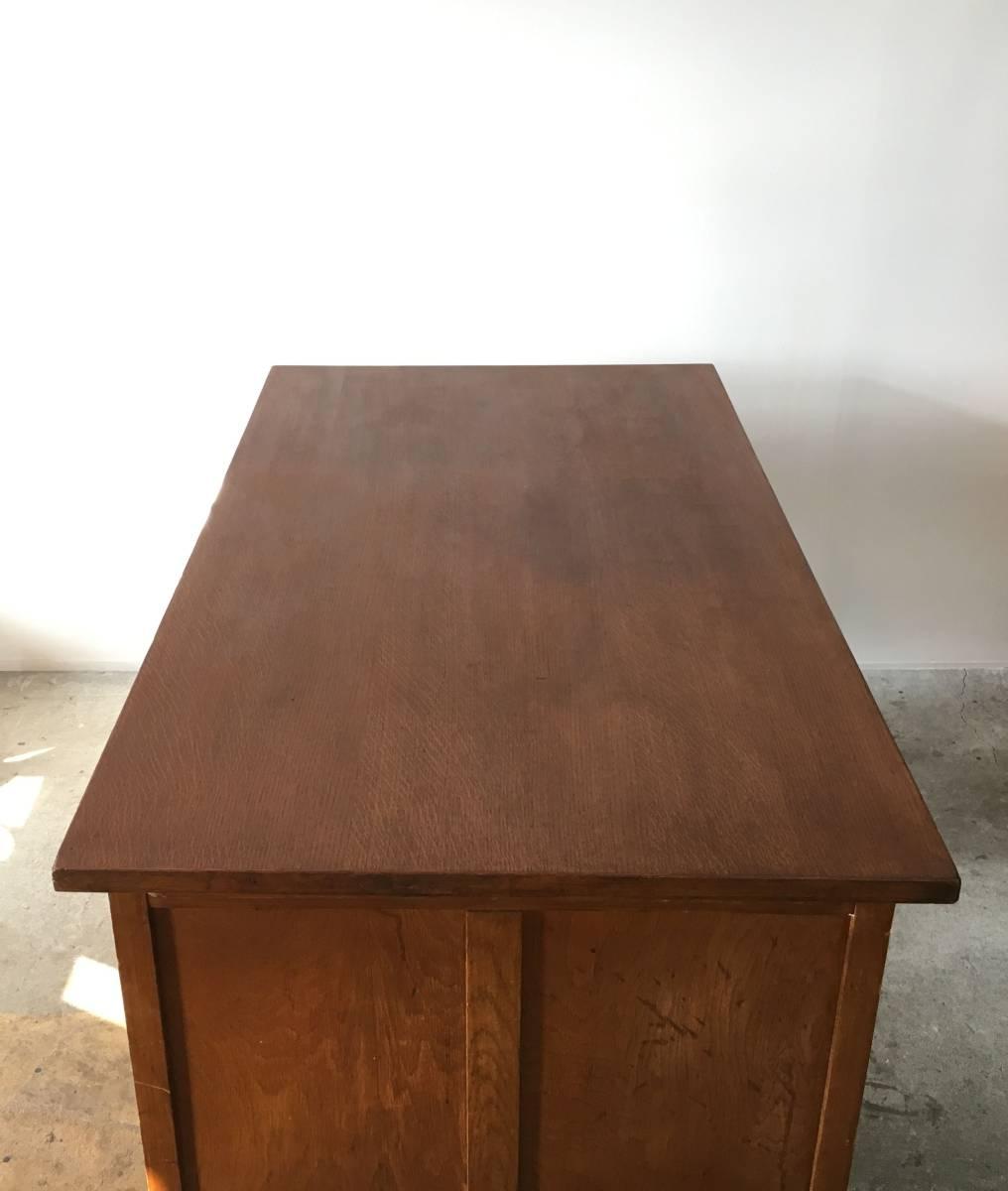 イギリス アンティーク 1940s MID CENTURY DESK オーク デスク 机 テーブル イス ビンテージ_画像9