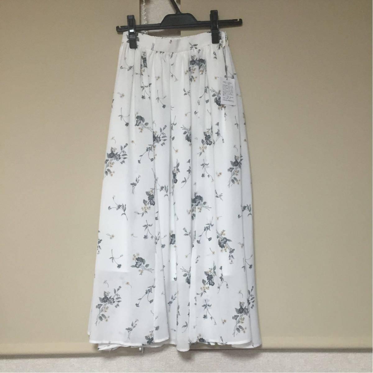 【新品タグ付き】リランドチュール小花柄スカート_画像2