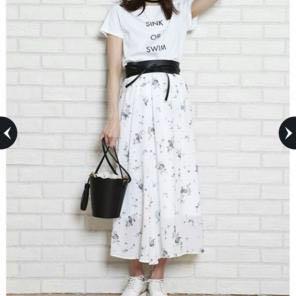 【新品タグ付き】リランドチュール小花柄スカート_画像3