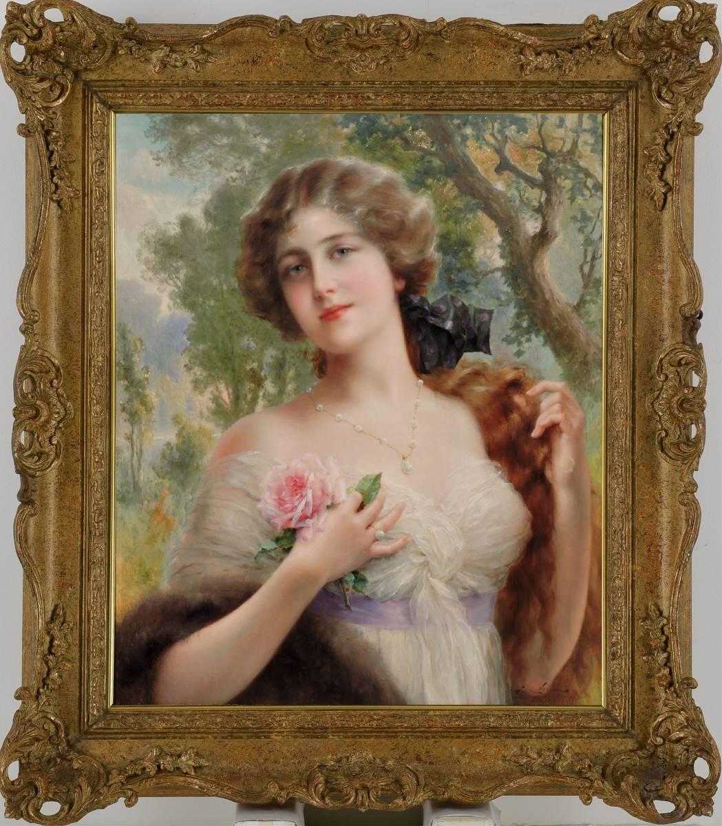 【H】19世紀仏巨匠「E.バーノン」師W.ブグロー/Artworks掲載作品、Wiki掲載作品!15号