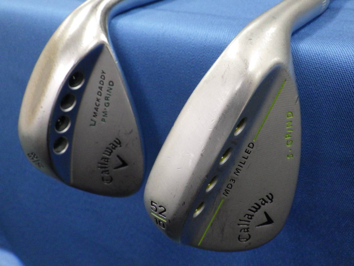 ☆Callaway ウェッジ2本セット☆MD3 MILLED52°/MACK DADDY PM・GRIND58°☆