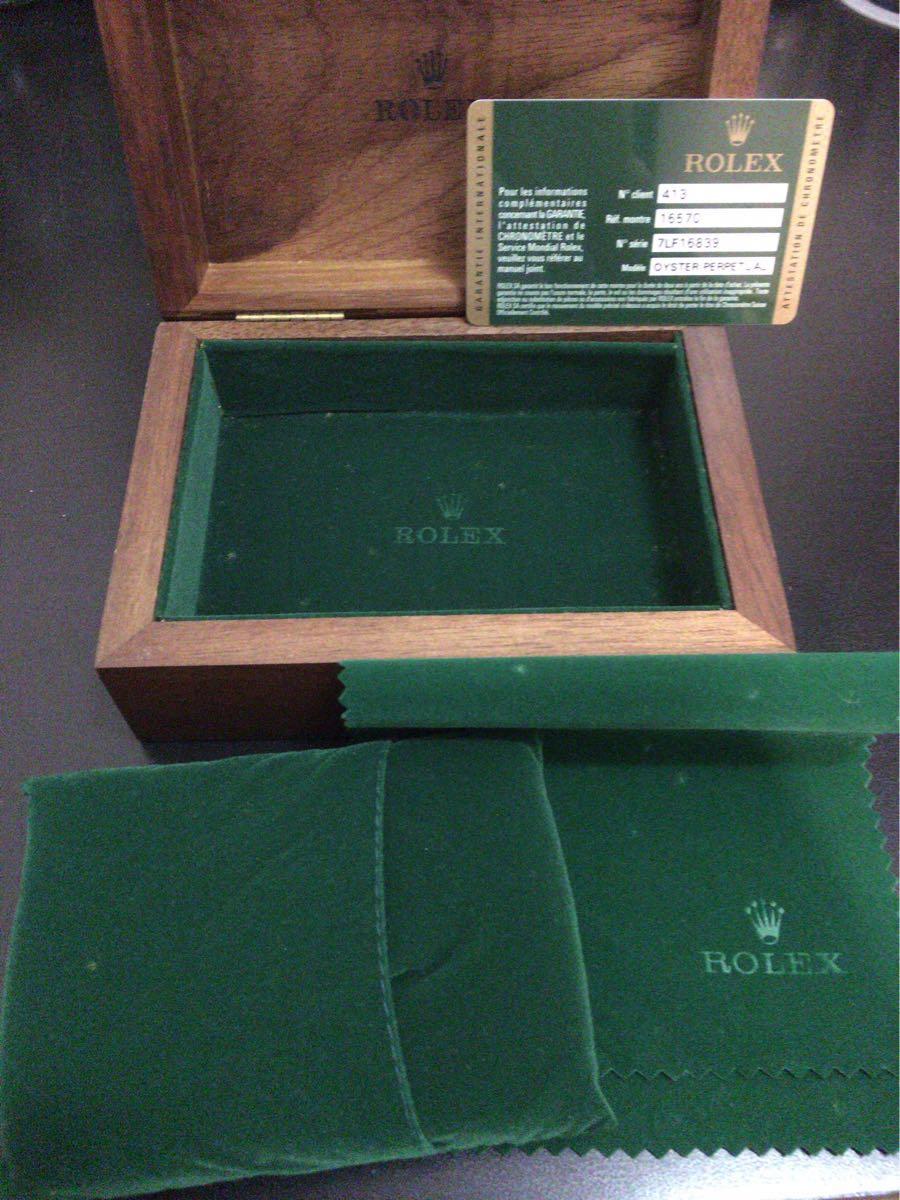 ロレックス ROLEX 空箱 木箱 ギャランティカード ギャラ クッション オイスターパーペチュアル 付属品_画像2