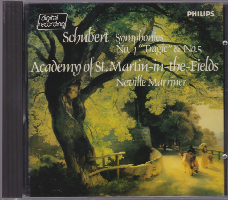 シューベルト 交響曲第4番 第5番 マリナー アカデミー室内管弦楽団【PHILIPS 水色最初期西独盤】 _画像1