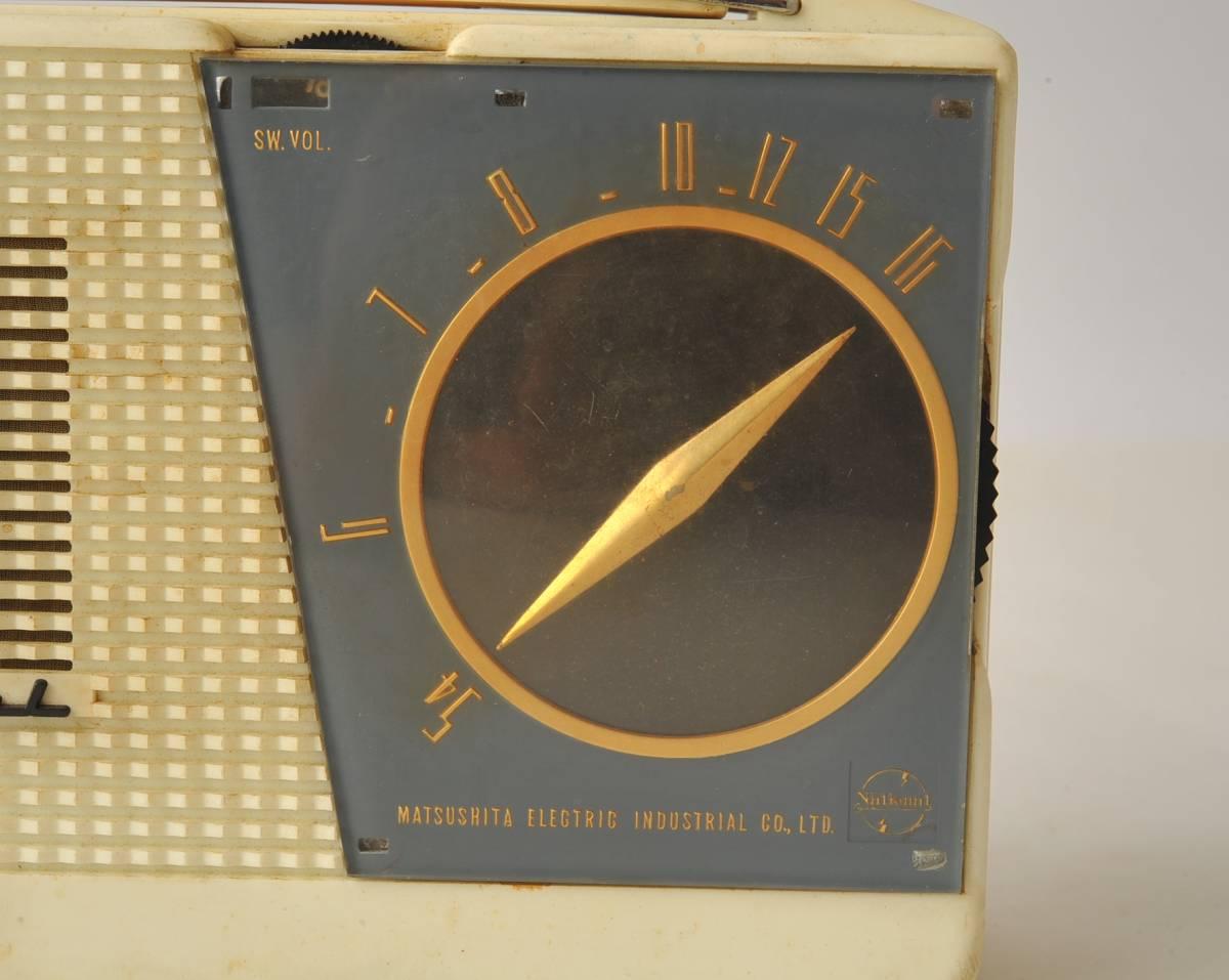 松下電器 ナショナル ポータブルラジオ MODEL 4W-260 ジャンク品_画像3