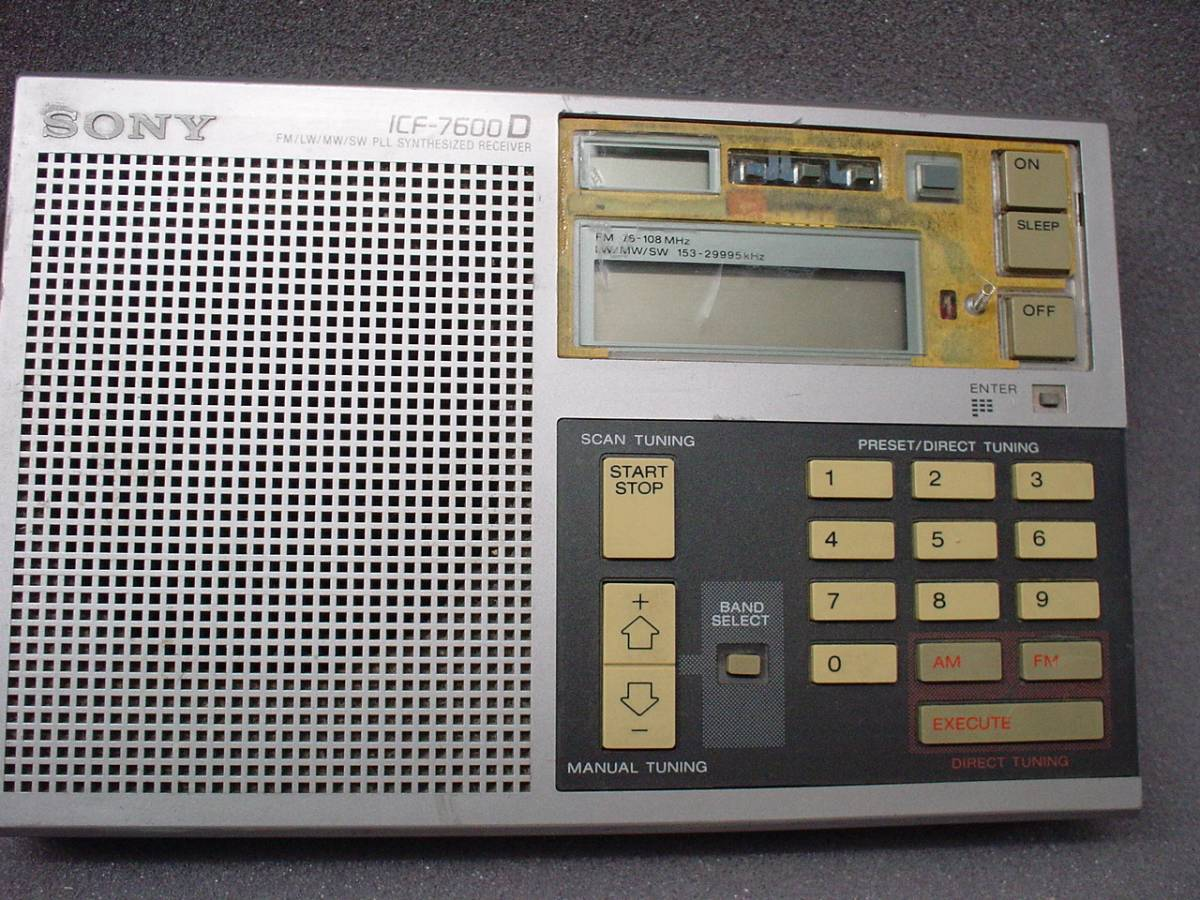 (rc503) ソニー ICF-7600D ジャンク!_画像7