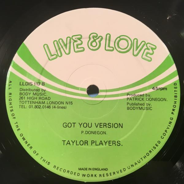 ★Vincent Taylor/Got To Have You★レアLOVERS ROCK!_画像2