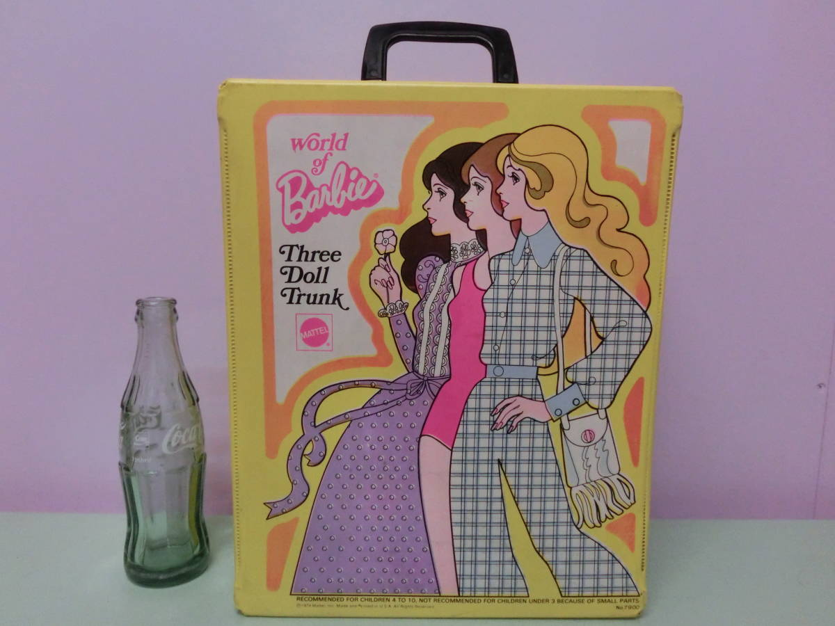Barbie 1974 Year Vintage Doll Case Trunk Western Style Clothes Doll Storage Case Bag Barbie 70s Vintage Doll Case Bag Mattel Doll House Real Yahoo Auction Salling