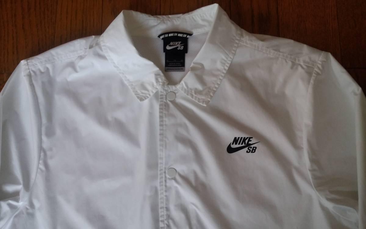 NIKE SB ナイキ エスビー 829510-100 ウィンドブレーカー シールド コーチ ジャケットXL ホワイト メンズ_画像3