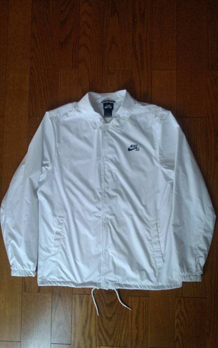 NIKE SB ナイキ エスビー 829510-100 ウィンドブレーカー シールド コーチ ジャケットXL ホワイト メンズ_画像1