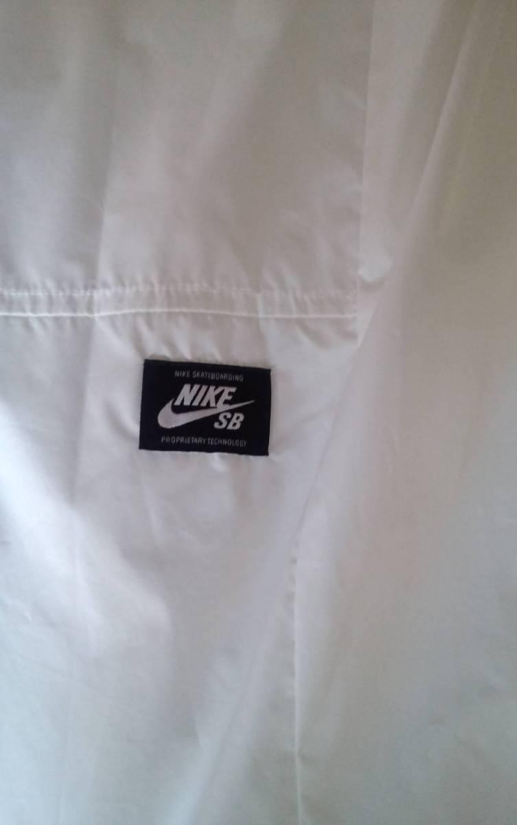 NIKE SB ナイキ エスビー 829510-100 ウィンドブレーカー シールド コーチ ジャケットXL ホワイト メンズ_画像2