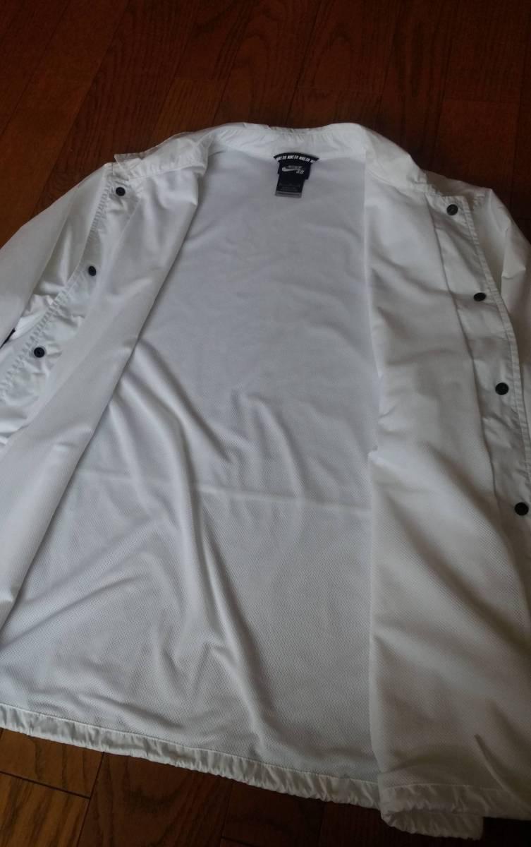 NIKE SB ナイキ エスビー 829510-100 ウィンドブレーカー シールド コーチ ジャケットXL ホワイト メンズ_画像4
