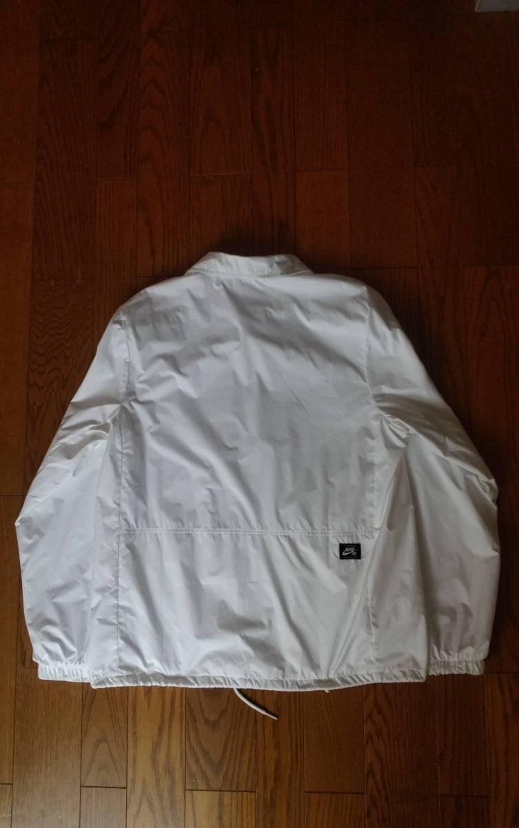 NIKE SB ナイキ エスビー 829510-100 ウィンドブレーカー シールド コーチ ジャケットXL ホワイト メンズ_画像5