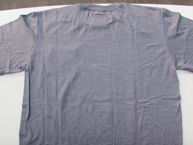 BLUE & GREEN PARADISE T-SHIRT (POCKET) / ブルー&グリーン リサイクルセイル T-シャツ(ポケット付)グレー Lサイズ_画像4