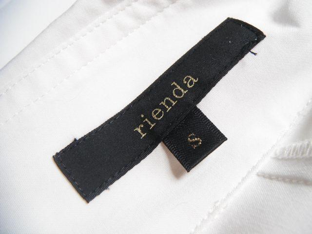 ☆rienda リエンダ☆大人可愛いフロントフリルの長袖ブラウス トップス シャツ 白ホワイト レディース☆Sサイズ_画像5