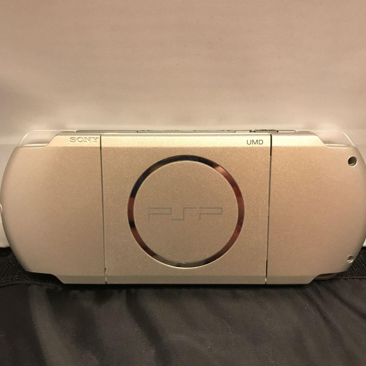 美品 PSP 3000 本体 ミスティックシルバー メモリースティック 32MB 付き SONY_画像3