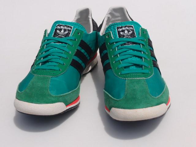 美品 限定復刻 11年 adidas SL72 緑x黒 26cm US 8_画像3