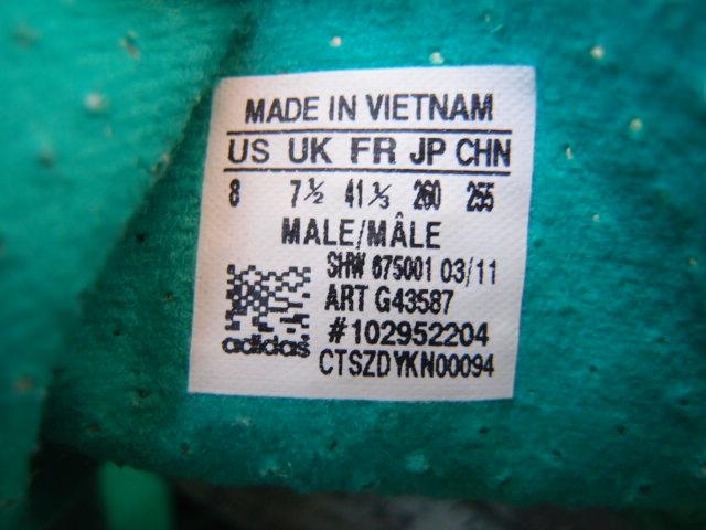 美品 限定復刻 11年 adidas SL72 緑x黒 26cm US 8_画像7