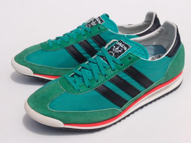 美品 限定復刻 11年 adidas SL72 緑x黒 26cm US 8_画像2
