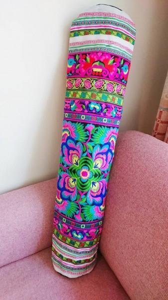 新品&即決◎刺繍たっぷり ヨガマットバッグ◎I アジアン雑貨 エスニック 花 鳥 ヨガマットケース