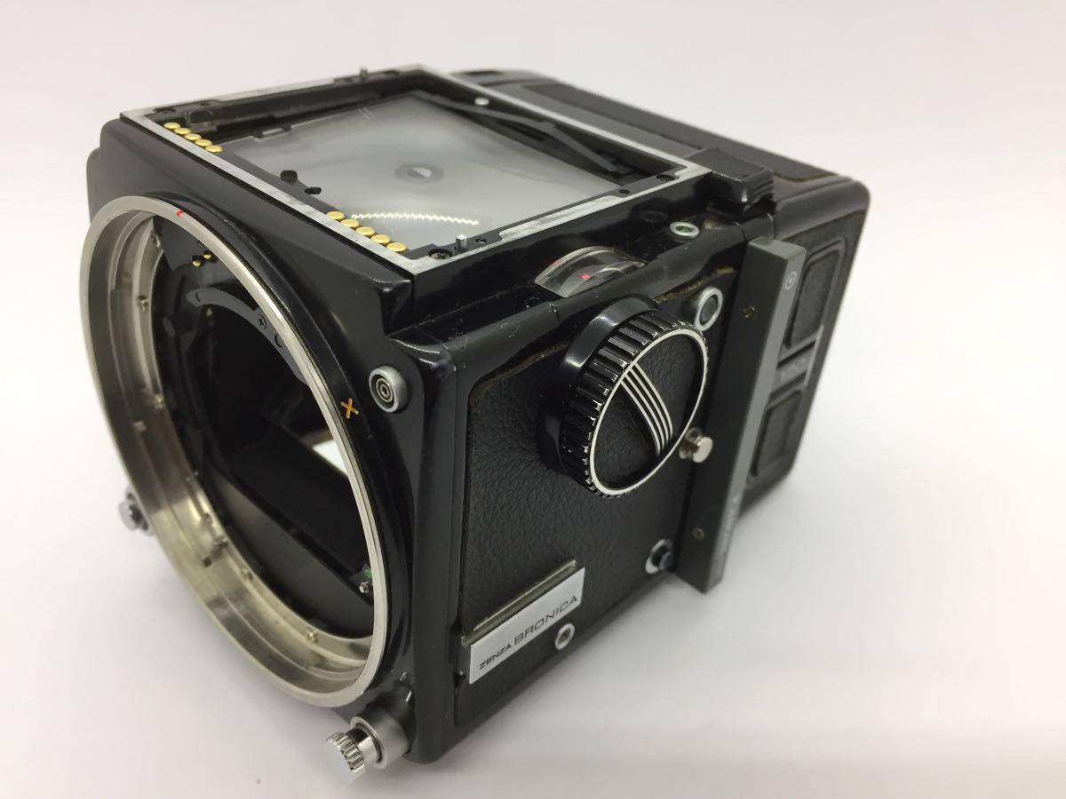 【ジャンク】ゼンザ ブロニカ 645 ETR ボディ、フィルムバック