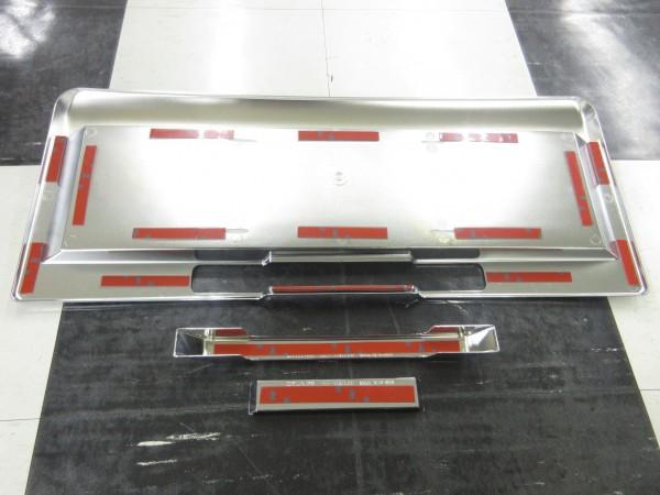 06~ ハマー HUMMER H2 クローム リア ライセンス フレーム ポケット パネルSET  Wellstar社製  RLF-HM12ABC_画像2