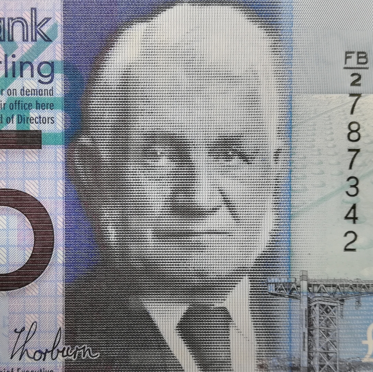 イギリス 5ポンド 紙幣 ピン札 管理351_画像3