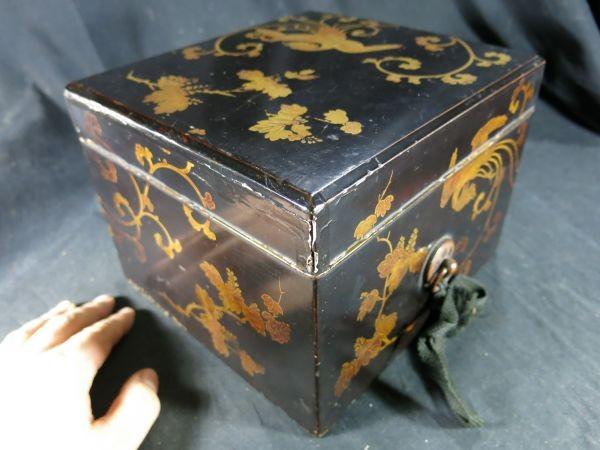 A 桐鳳凰蒔絵手箱 江戸時代前期 17世紀 漆工 塗りもの 文化財 蒔絵 漆器 木工 _画像1