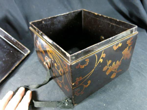 A 桐鳳凰蒔絵手箱 江戸時代前期 17世紀 漆工 塗りもの 文化財 蒔絵 漆器 木工 _画像6
