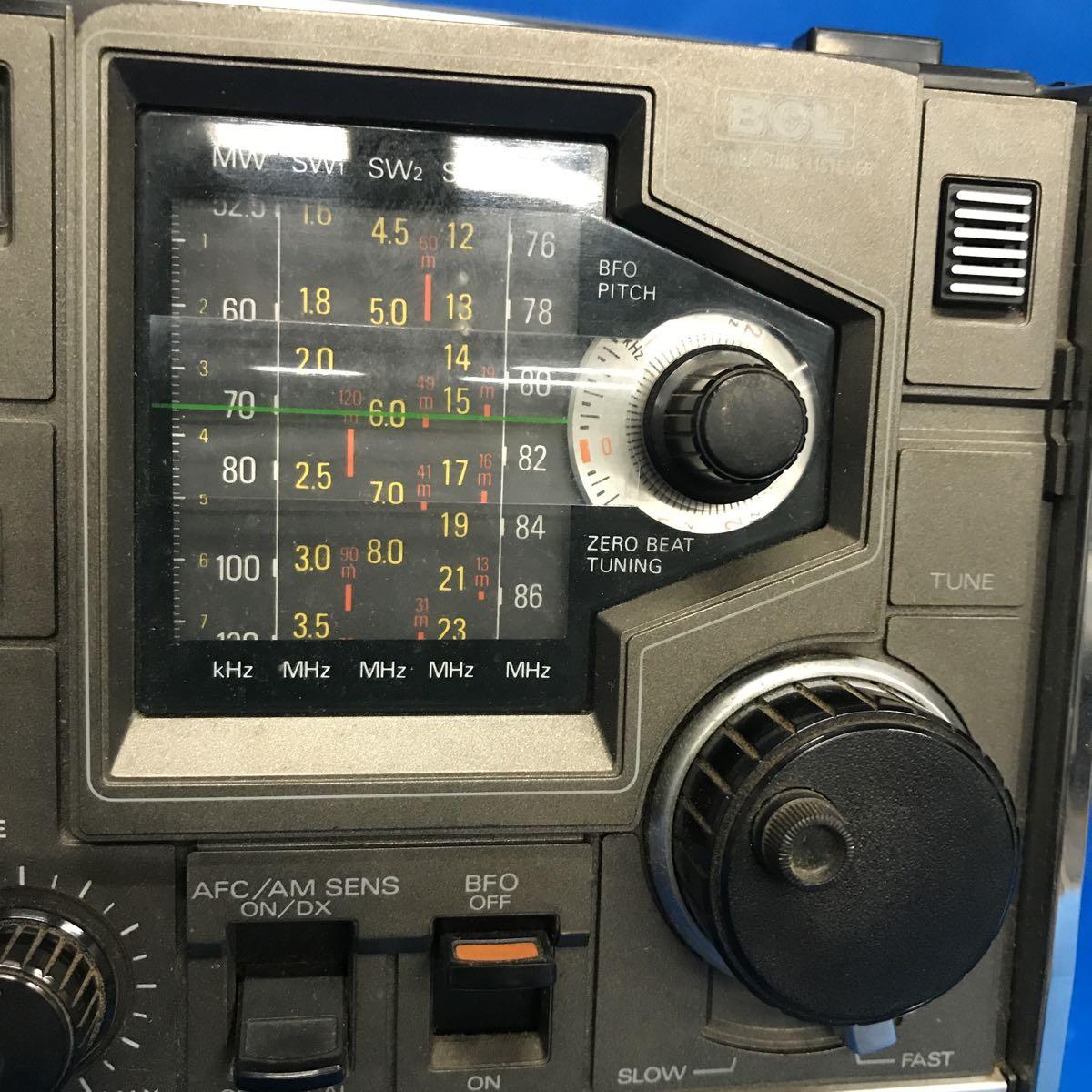 AIWA/アイワ 5バンド ラジオカセットレコーダー BCLレコーダー TPR-255 電源コード付き 【ジャンク品/現状渡し/部品取り/修理前提】_画像3