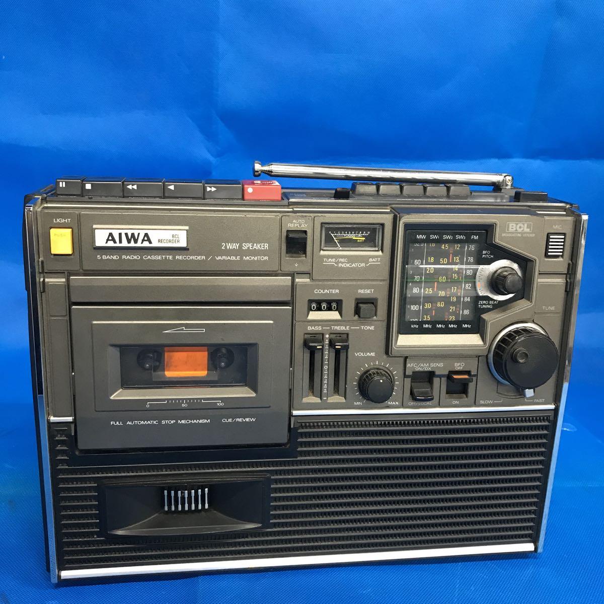 AIWA/アイワ 5バンド ラジオカセットレコーダー BCLレコーダー TPR-255 電源コード付き 【ジャンク品/現状渡し/部品取り/修理前提】
