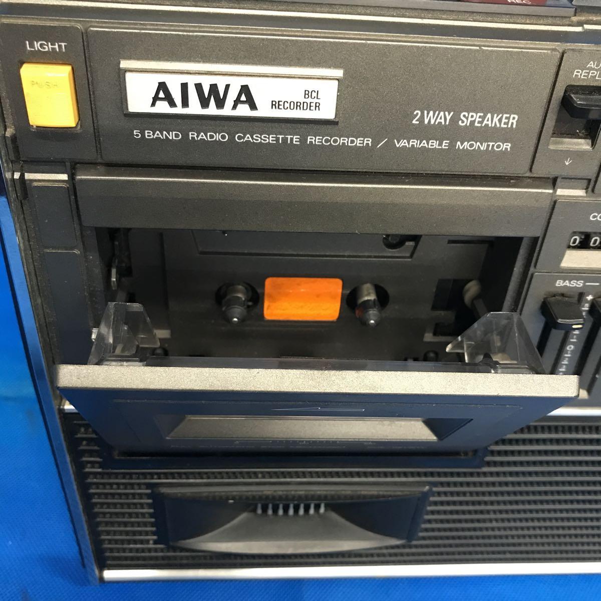 AIWA/アイワ 5バンド ラジオカセットレコーダー BCLレコーダー TPR-255 電源コード付き 【ジャンク品/現状渡し/部品取り/修理前提】_画像2