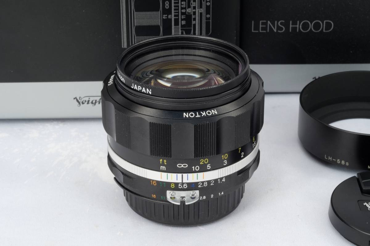 VOIGTLANDER フォクトレンダー Cosina NOKTON 58mm 1.4 SL Ⅱ Nikon F マウント Ai-S 交換レンズ 中古 品_画像2