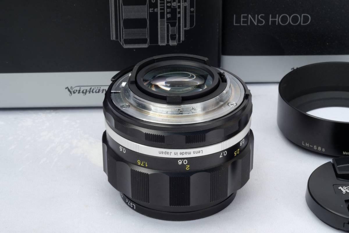 VOIGTLANDER フォクトレンダー Cosina NOKTON 58mm 1.4 SL Ⅱ Nikon F マウント Ai-S 交換レンズ 中古 品_画像3
