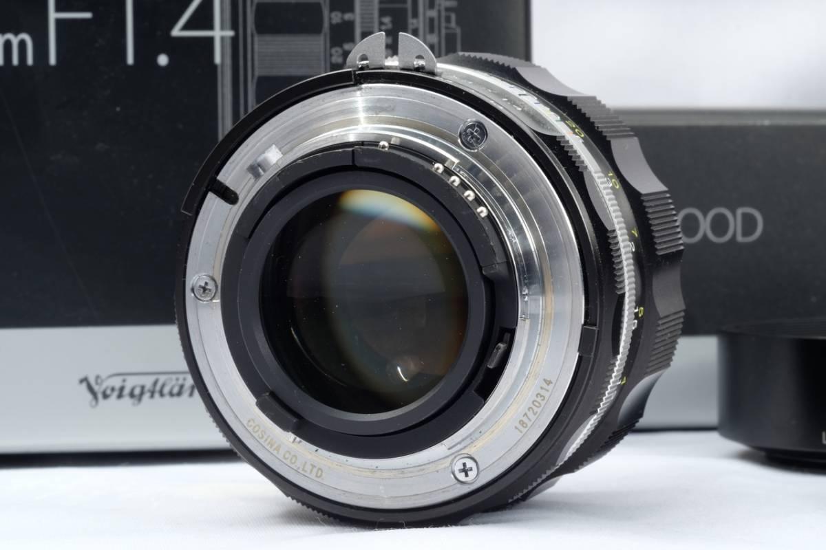 VOIGTLANDER フォクトレンダー Cosina NOKTON 58mm 1.4 SL Ⅱ Nikon F マウント Ai-S 交換レンズ 中古 品_画像6