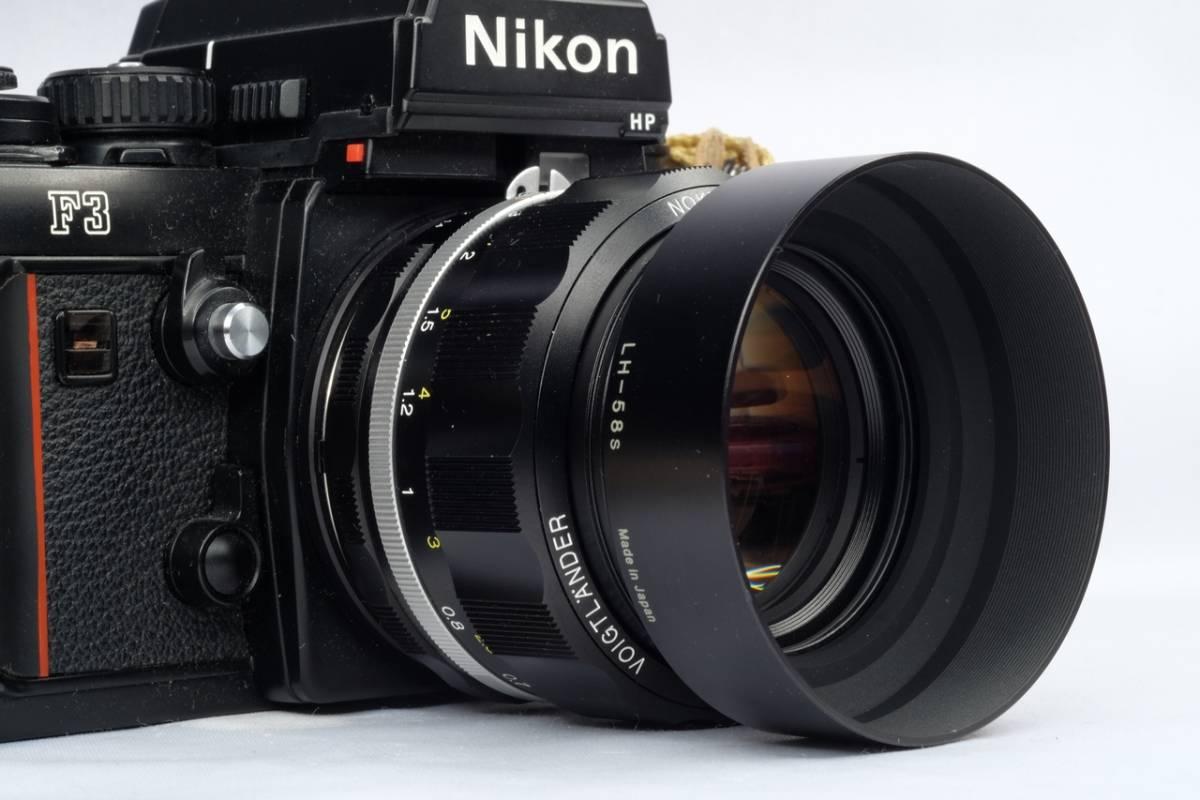 VOIGTLANDER フォクトレンダー Cosina NOKTON 58mm 1.4 SL Ⅱ Nikon F マウント Ai-S 交換レンズ 中古 品_画像4