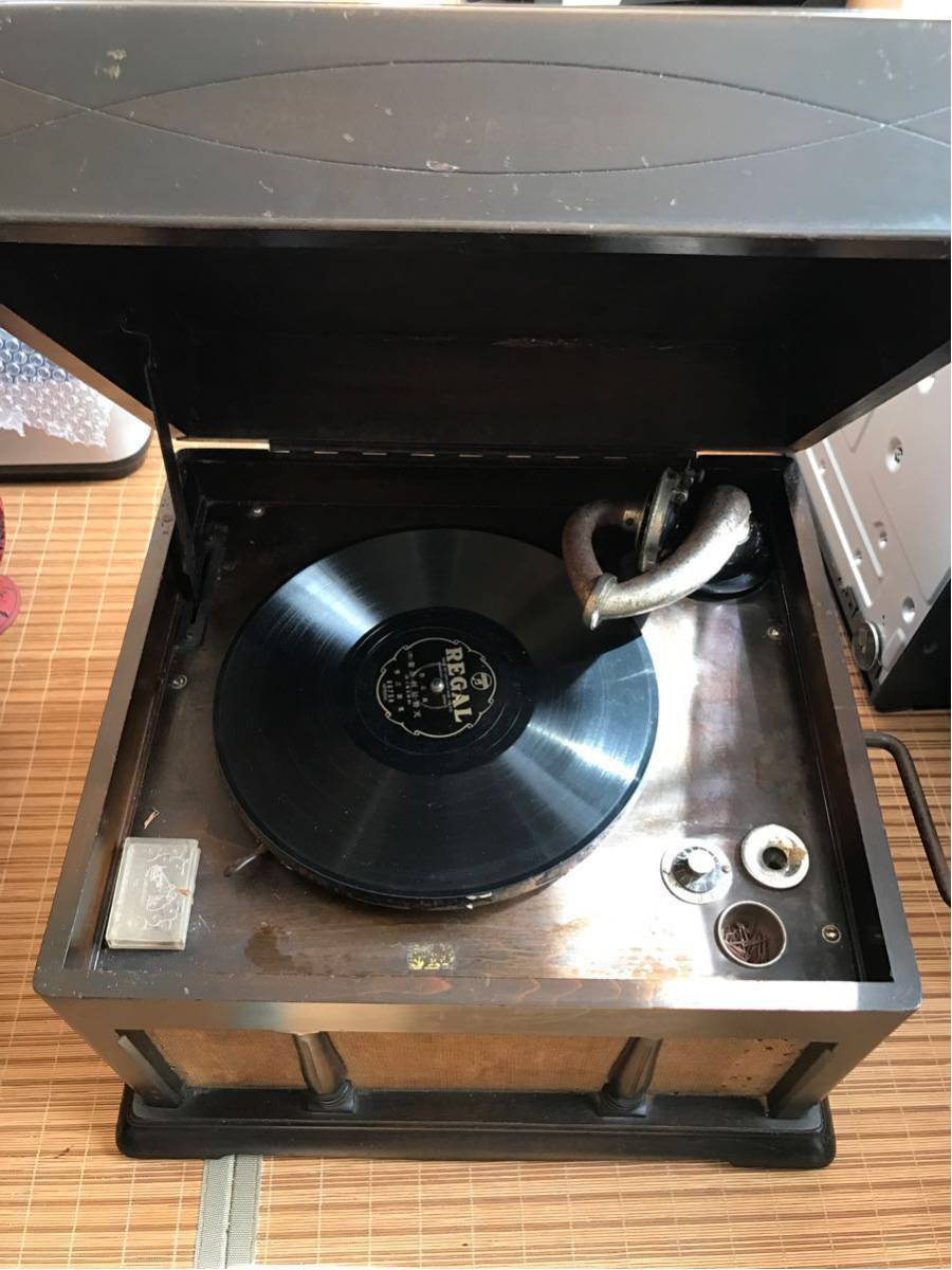 希少 columbia コロンビア グラフォノーラ Viva-tonal Grafonola 卓上型 蓄音機/昭和レトロ_画像1