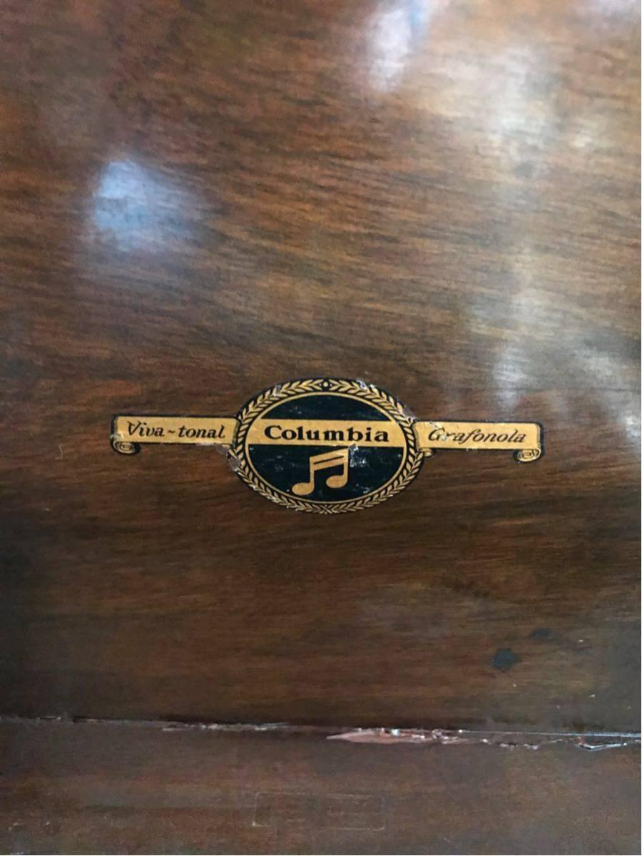 希少 columbia コロンビア グラフォノーラ Viva-tonal Grafonola 卓上型 蓄音機/昭和レトロ_画像6