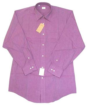 綿100% エンドオンエンド セミワイドシャツ Lav 16.5(42)即決_エンドオンエンド織