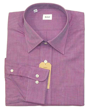 綿100% エンドオンエンド セミワイドシャツ Lav 16.5(42)即決_ビジネス・ドレス・カジュアル