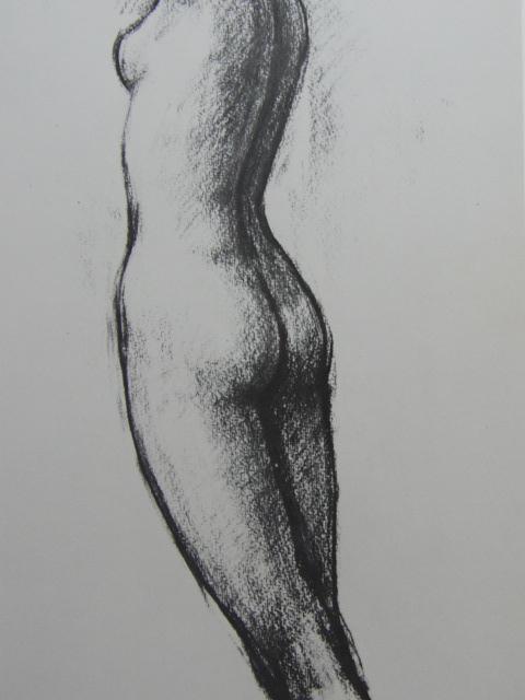 舟越 保武【立像】、裸婦、希少画集画、状態良好、新品額装付、送料無料、